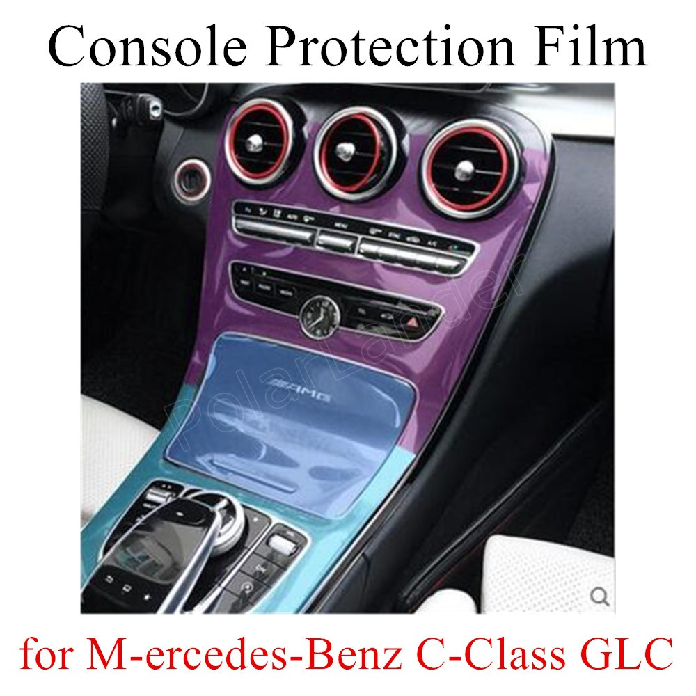 best selling 3 pieces Center Console LCD Screen Protective Film Touch Screen Screen Film for M-ercedes-Benz C-Class GLC level image