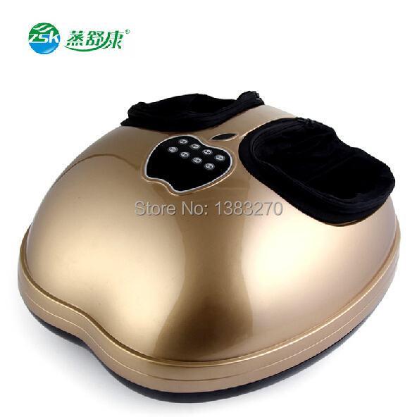 Full airbag foot massage instrument vibrating blood circulation foot massager 2018 new shiatsu massager green foot reflexology electric vibrating foot massage infrared heat therapy body relax blood circulation warm feet massager