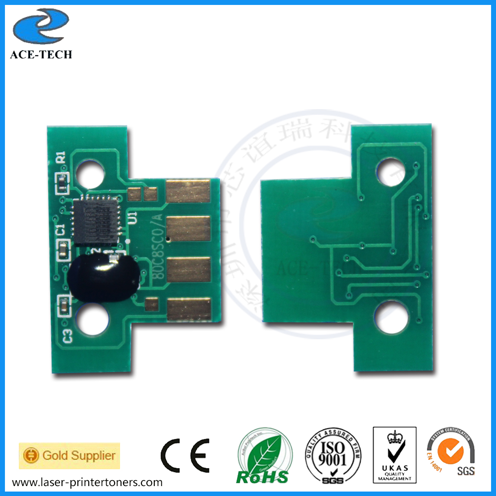 CS310 CS410 CS510 toner chip for lexmark 70C80K0 70C80C0 70C80M0 70C80Y0 cartridge reset chips laser refill cx510 cx410 cx310 reset chip for lexmark 510 410 310 toner chip laser printer cartridge chip