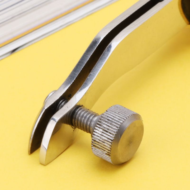 Adjustable Stainless Steel Creaser Press Sideline Edge Ebony Handle Leather Craf