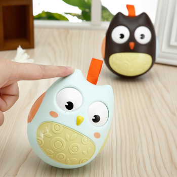 Baby Toys Nod Owl Tumbler 0-24 months 1 year old Toys Lovely Owl Baby Rattles Learn To Climb Educational Toys For Kids Roly-poly toys for 2 month old
