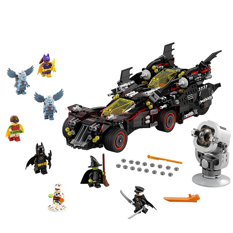 lepin 07077 Ultimate Batmobile Bat Man Lepin 07052 Batcave Break-in Genuine Block marvel Toys legoings Batman Clone 70917 70909