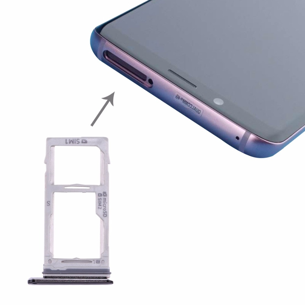 iPartsBuy for Samsung Galaxy S9+ / S9 SIM & SIM / Micro SD Card Tray ...