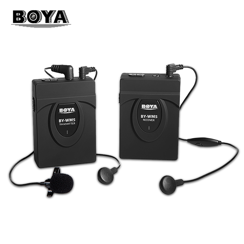 BOYA BY-WM4 Pro WM5 UHF Wireless Lavalier Lapel Microphone System for ENG EFP DV DSLR Camera Camcorders Audio Recorder for Canon boya by wm5 dslr camera wireless lavalier microphone recorder system for canon 6d 600d 5d2 5d3 for nikon d800 forsony dv camcord