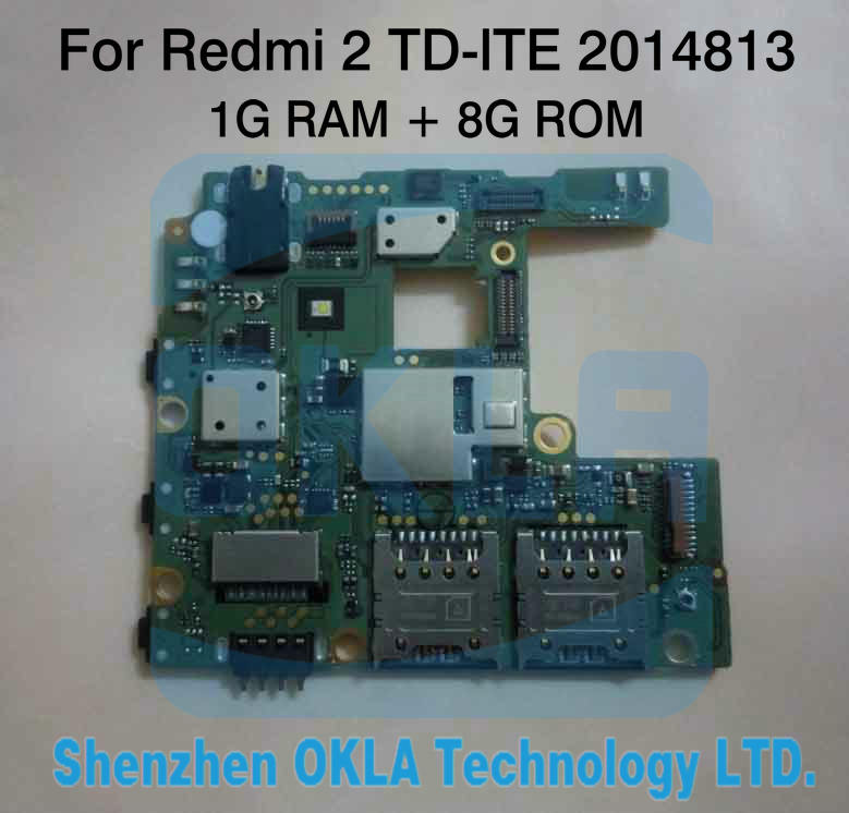 imágenes para 1 unids Utiliza 2014813 TD-LTE 1G RAM 8G ROM de la Placa para hongmi xiaomi redmi 2 2 redmi2 mainboard placa madre lógica junta