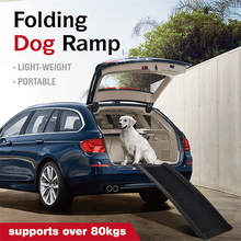 DannyKarl Folding Car Dog Climbing Stairs Car With Ramps Assisted To Get Off The Stairs Pet Supplies Dog Step 2 Color Can Choose climbing the stairs