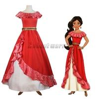 Elena of Avalor Princess Elena Cosplay Costume Red Fancy Dress Halloween For adult Custom Made