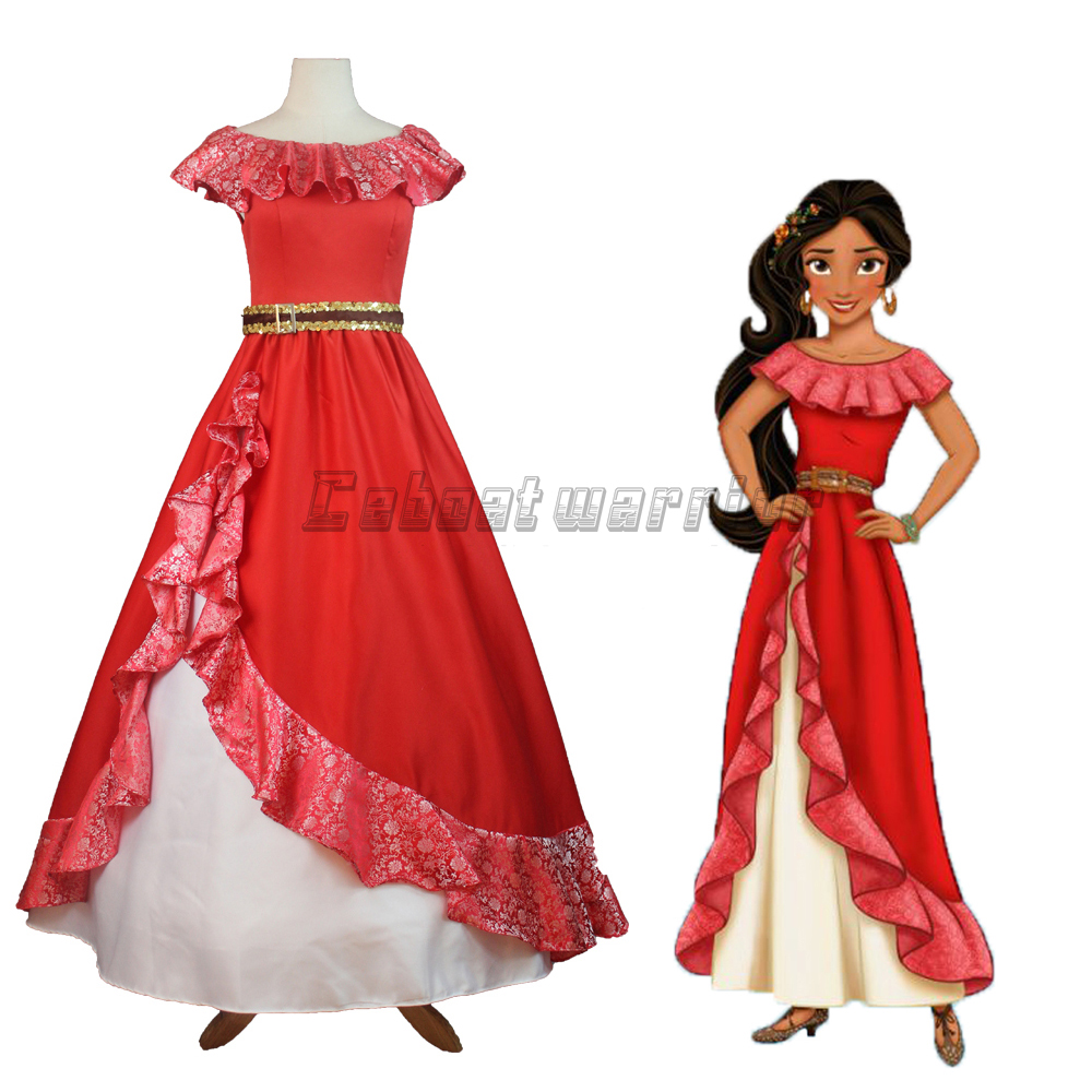 Buy Elena Of Avalor Princess Cosplay Costume Red Fancy Dress Stove Wiring Diagram Halloween For Adult Custom Made
