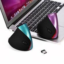 Rechargeable 2.4G Sans Fil Souris 2400 DPI 5 Boutons Optique Ergonomique Verticale Souris Souris avec USB pour Mac PC Portable de bureau