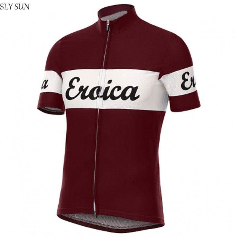 Prix pour 2017 chaude Classique pro Équipe de cyclisme sur route jersey hommes porter nouveau à manches courtes équitation vélo Course ciclismo maillot route Espagne bleu