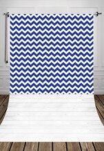 Huayi branco azul chevron fundo com piso de madeira branca da arte tecido recém-nascidos cenário d-6208