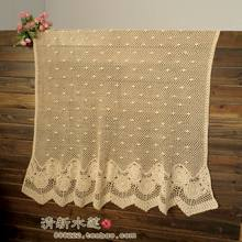 free shipping cotton crochet lace curtain for door window cover 2014 ZAKKA fashion design tablemat table cover towel cover(China)