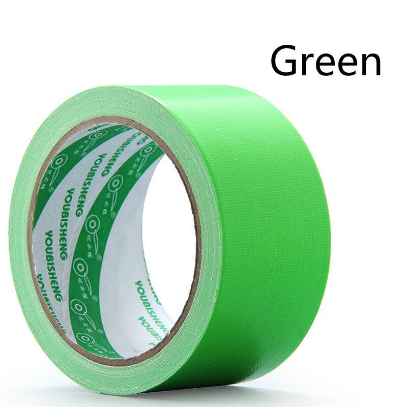 1 шт. 60 мм в ширину и 10 м цветная тканевая основа лента односторонняя сильная Водонепроницаемая без следа высокая вязкость ковер лента DIY - Цвет: Green