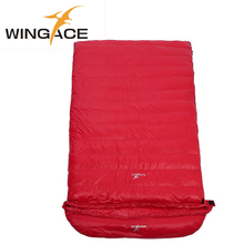 WINGACE Fill 3500g Duck Down Adult Double Sleeping Bags Outdoor Sports Thick Hiking Camping Climbing Winter Warm Sleeping Bag warm winter sleeping bag outdoor sport hiking camping equipment adult waterproof warm duck down sleeping bag
