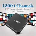 M8S Android Árabe Caja de Envío Francés Árabe IPTV Caja de la TV 2 GB/8 GB Qhdtv 1200 + Canales En Vivo Para Canal Plus Kids Sky Europa Deportes