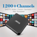 M8S Arabic Android Box Free French Arabic IPTV TV Box 2GB/8GB Qhdtv 1200+ Live Channels For Canal Plus Kids Sky Europe Sports