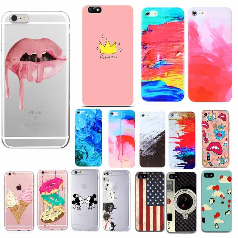 Romantic ROSE Flower Silicon TPU Cases For Iphone 7 7 Plus 6 6S 5 5S SE 4 4S Soft Phone Bags Floral Cases For Apple Iphone7 6S