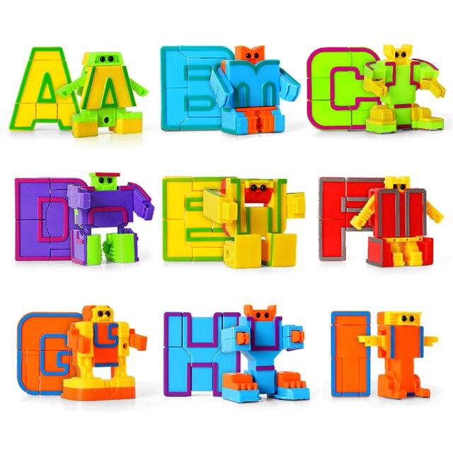 Transformation Serie Alphabet Robot Transformateur 26 Lettres Robot