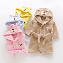 Herfst Winter Kinderen Nachtkleding Gewaad Flanellen Hooded Warme Badjas Kinderen Pyjama Voor Jongens & Meisjes Mooie Cartoon Dieren Gewaden