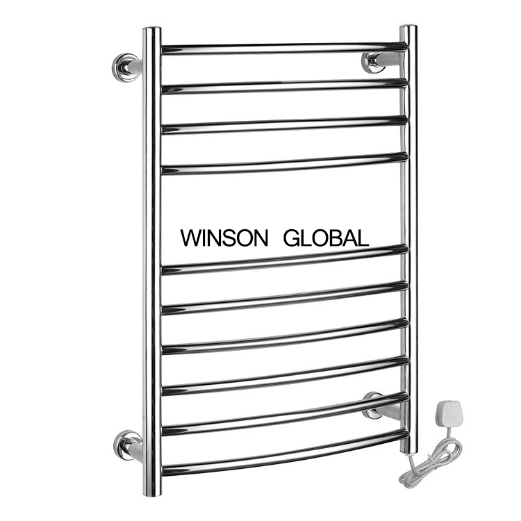 bathroom electric towel racks 304 stainless steel heater electric towel holder fixture towel racks warmer accessory ICD60055 square 304 stainless steel electric towel rack bathroom holder fixtures towel racks warmer rails constant temperature icd60056