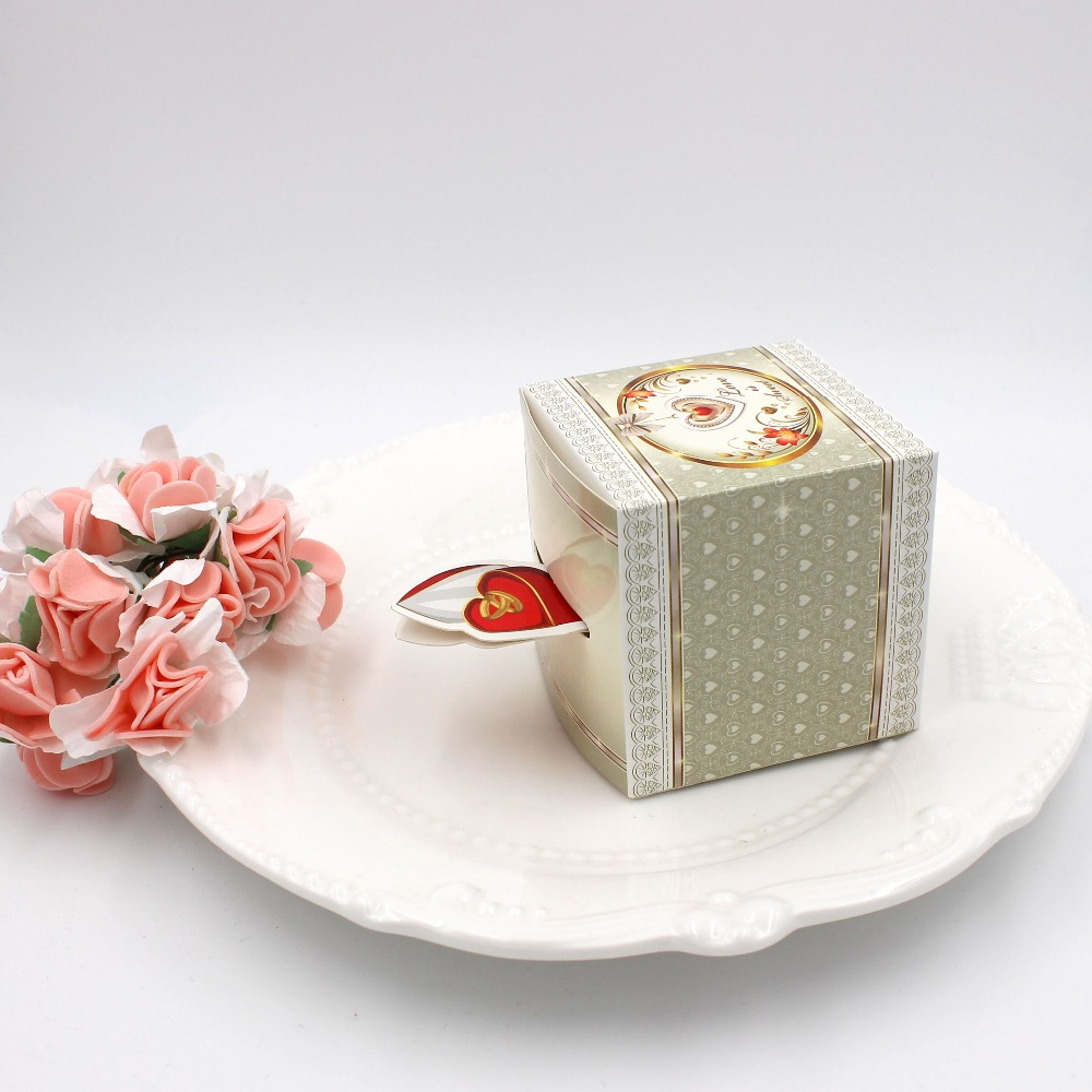 50PC Wedding Favors and Gifts Sweet Love Candy Box Supplies Paper ...