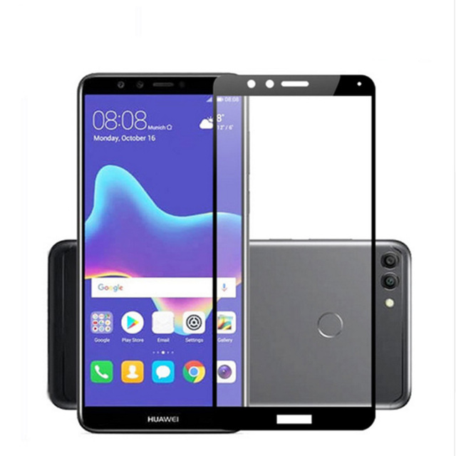 US $1 0 13% OFF|FOR HUAWEI NOVA 2 LITE TEMPERED GLASS FOR Y5 Y6 PRO II Y7  Y3 PRIME 2017 HONOR 7A 7C Y 5 Y9 2018 FULL COVER SCREEN PROTECTOR FILM-in