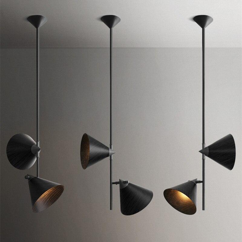 купить Nordic Loft Solid Wood Dining Table Chandelier Modern Creative Living Room Bar Restaurant Hanging Light Fixture Free Shipping по цене 16727.39 рублей