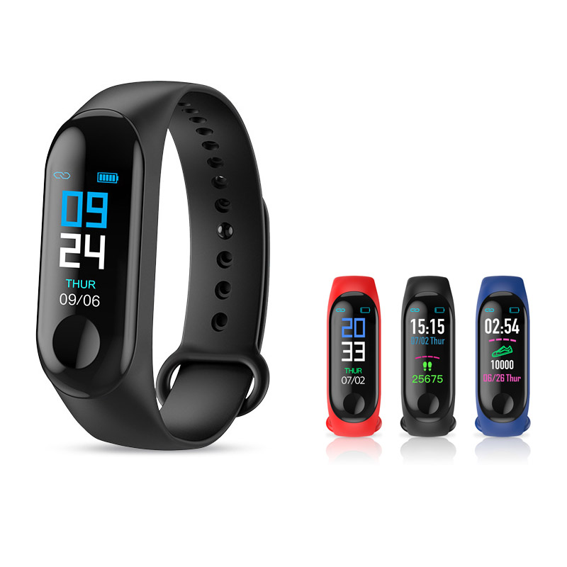 M3 Smart Band Fitness Tracker Heart Rate Blood Pressure Messages Reminder Smart Bracelet Waterproof Wristband PK mi Band3 M3 Smart Band Fitness Tracker Heart Rate Blood Pressure Messages Reminder Smart Bracelet Waterproof Wristband PK mi Band3