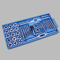 40pcs Metric Tap Wrench Tip And Die Set M3 M12 Screw Thread Metric Plugs Taps Nut Bolt Alloy Metal Hand Tools