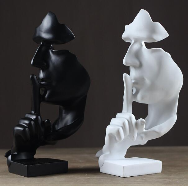 Creative abstract silence art statue home furnishings Simple and stylish resin home decoration