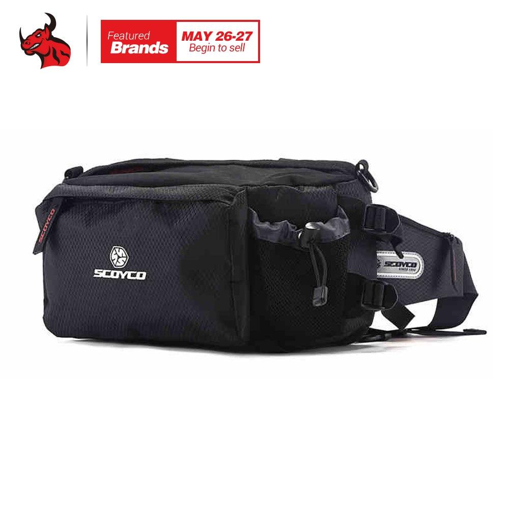 SCOYCO Black Motorcycle Sports Leisure Waist Packs Multifunctional Package Motocross Bag Clutter Bag Motorcycle Travel Bag outdoor leisure waist bag black