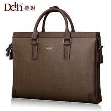 Delin wearable leather men s bag business package men s handbag shoulder bag Messenger bag briefcase