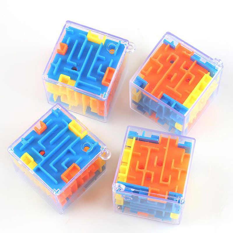 1 個子供 3D ミニ迷路マジックキューブパズルスピードキューブ迷宮ローリングボールおもちゃパズルゲーム Cubos Magicos 学習おもちゃ