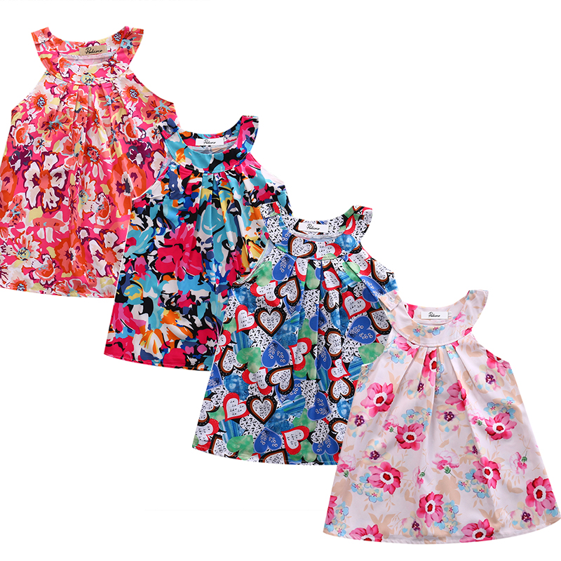 Multi-style New Kids Baby Girls Summer Graffiti Floral Dress Babies Princess Party Pageant Beach Dresses Sundress Clothing new 4 wheels mobile rolling sliding dolly stabilizer skater slider motorized push cart tractor for gopro 5 4 3 3 2 1 camera