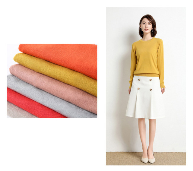 Yellow Cashmere Sweater For Women Sweaters Female Pink Wool Winter Woman Sweater Knitting Pullovers Knitted Sweaters Jumper 2019 18