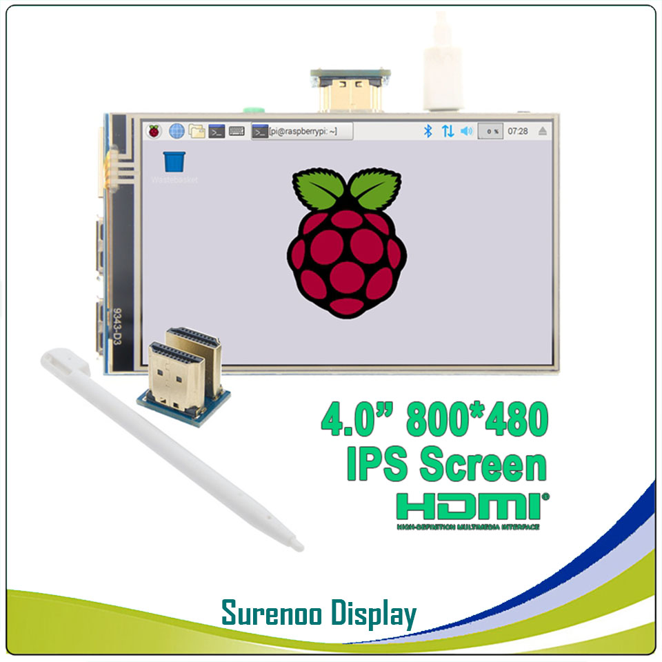 4.0 Inch HDMI IPS LCD Monitor Screen Module Display with GPIO Resistive Touch Panel Audio Output for Raspberry Pi4.0 Inch HDMI IPS LCD Monitor Screen Module Display with GPIO Resistive Touch Panel Audio Output for Raspberry Pi
