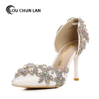 White Crystal Bridal Shoes Ultra High Heels Thin Heels Formal Dress Shoes Women S Shoes Party