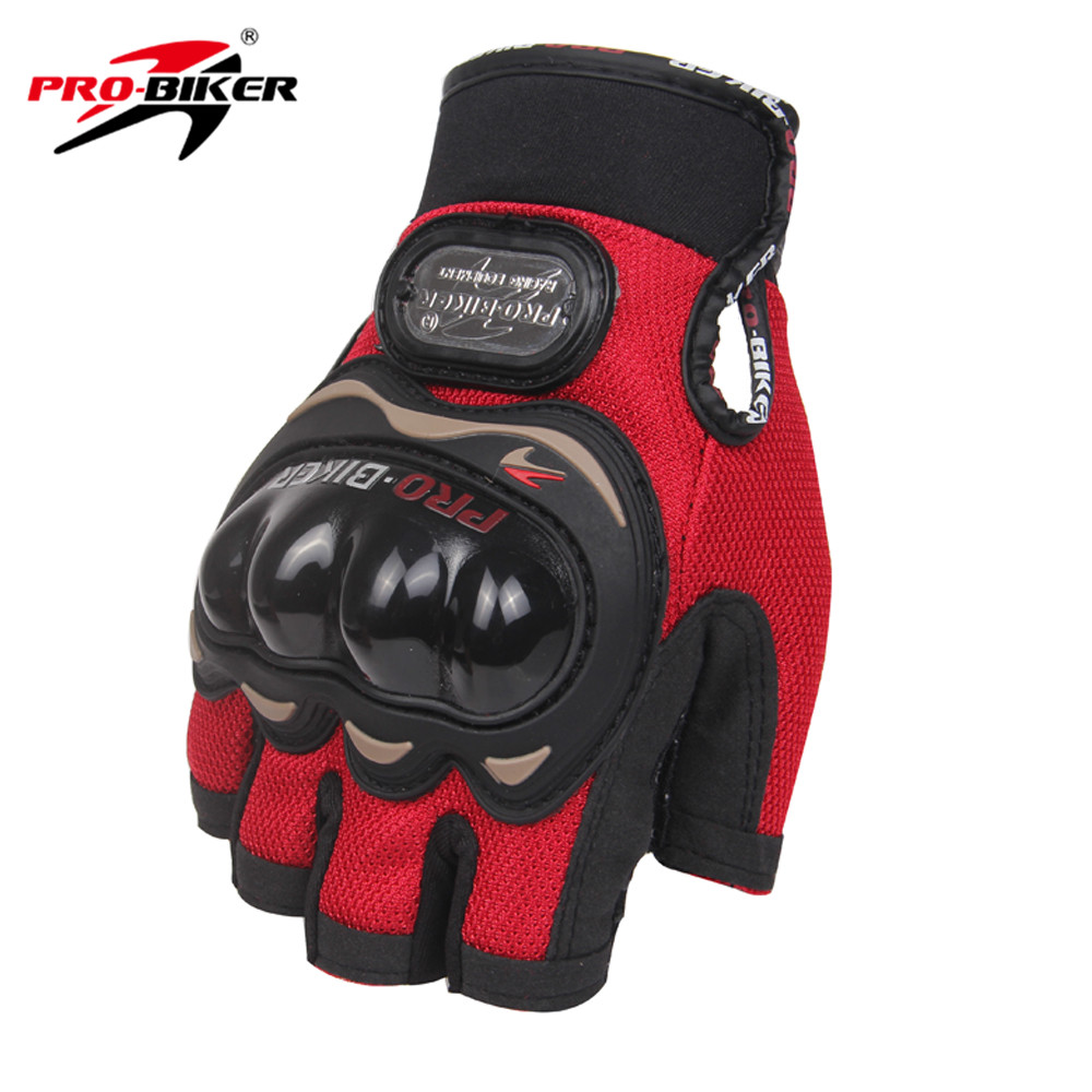 PRO-BIKER Motorcycle Half Finger Summer Gloves Glove Motorcycle for Men Red M L XL XXL Available Short Outdoor Off-road Gloves adjustable pro safety equestrian horse riding vest eva padded body protector s m l xl xxl for men kids women camping hiking