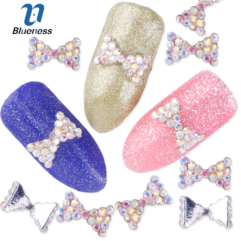 Blueness 10pcs Colorful Nail Bow,3d Metal Alloy Nail Art Decoration/charms/studs,nails Rhinestones 3d Jewelry Supplies Tn072 Nails Art & Tools Rhinestones & Decorations