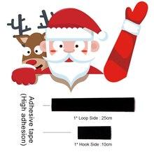 Christmas Car Sticker with Rear Window Decor
