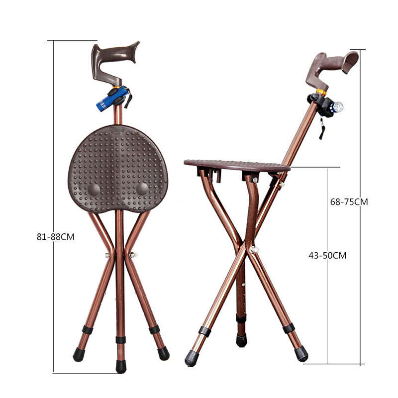 Super Us 69 99 30 Off Adjustable Folding Walking Cane Chair Stool Massage Walking Stick With Seat Portable Fishing Rest Stool With Led Light For Elder In Creativecarmelina Interior Chair Design Creativecarmelinacom