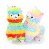 1pc 35cm Rainbow Alpaca Plush Sheep Toy Japanese Soft Plush Alpacasso Kids 100 Stuffed Animals Plush