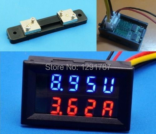 Measurement & Analysis Instruments Electrical Instruments 100v 50a W/shunt Dc Digital Voltmeter Ammeter Led Amp Volt Meter 12v 24v Car