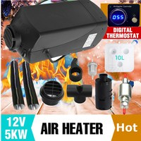 12V 5000W Thermostatic Digital Switch Air diesel Heater For Cars Trucks Boats Motor Homes Air Parking Heater Easy Installation