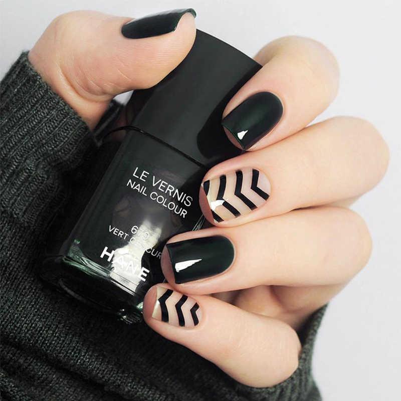 24pcs Set Short Black Wave False Nails Pre Finished Summer Cute