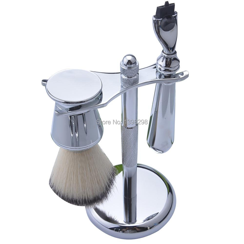 Men's Shaving Razor Kits Shaving Brush Holder Male Shaver Stand Shaving Tool Set Synthetic Hair Shaving Brush Set