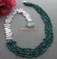 Pearl&Natural Stone Necklace free shipment