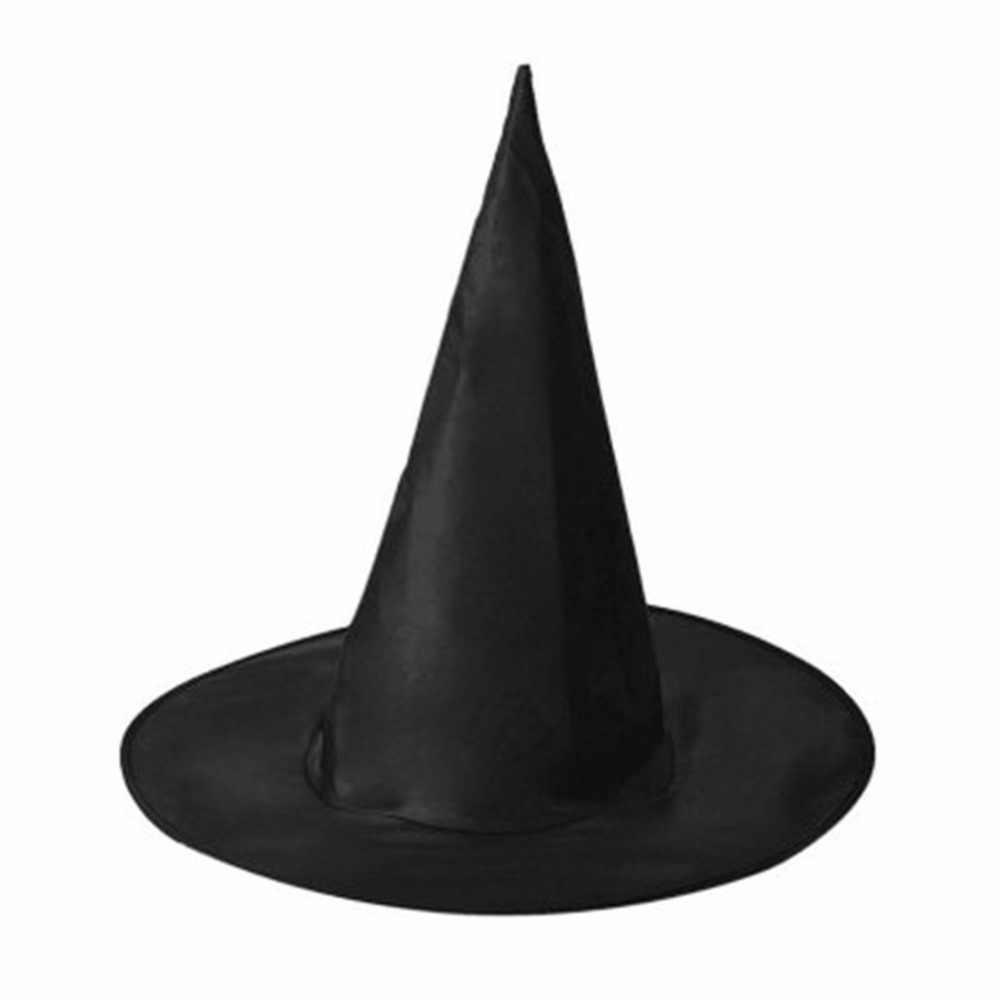 هالوين أكسفورد القماش ساحرة معالج قبعة قبعة سحرية معالج قبعات ألعاب احتفالات تأثيري للبالغين والأطفال قبعة سوداء Spire
