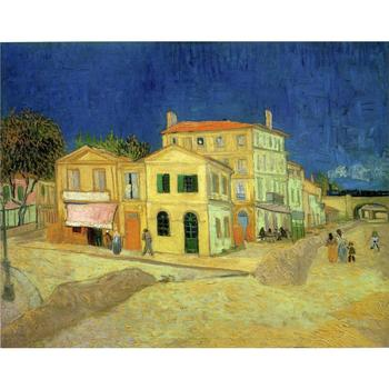 High quality Vincent Van Gogh Oil paintings reproduction The Yellow House artist hand painted Landscapes canvas arts wall decor