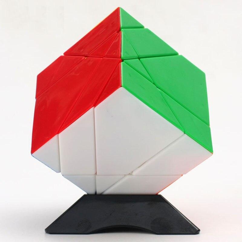 Axe Tangram Cube magique 5 axes vitesse Twist Cube sans autocollant/autocollant Cube magique enfants jouets éducatifs livraison directe (S5